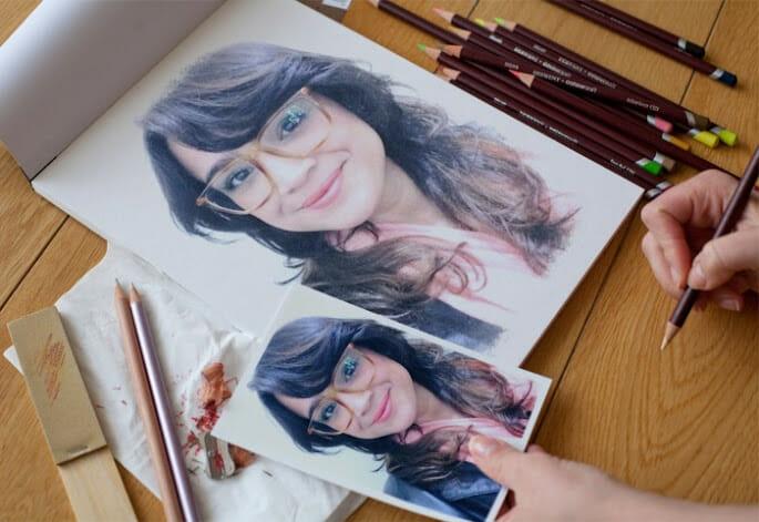 montagem desenho a lápis